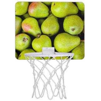 Frische grüne Birnen Mini Basketball Ringe