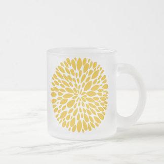 Frische moderne abstrakte Chrysantheme-Glas-Tasse Matte Glastasse