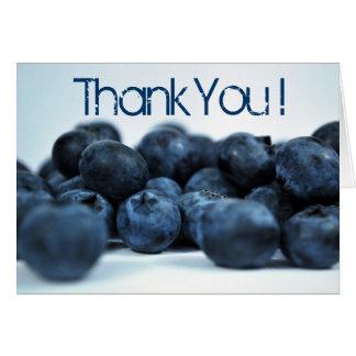Frische reife Blaubeeren danken Ihnen Mitteilungskarte