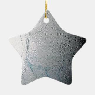 Frische Tiger-Streifen auf Enceladus Keramik Stern-Ornament