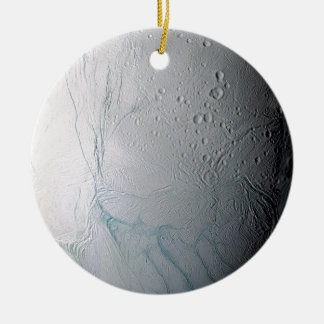 Frische Tiger-Streifen auf Enceladus Rundes Keramik Ornament