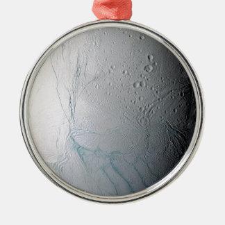 Frische Tiger-Streifen auf Enceladus Silbernes Ornament