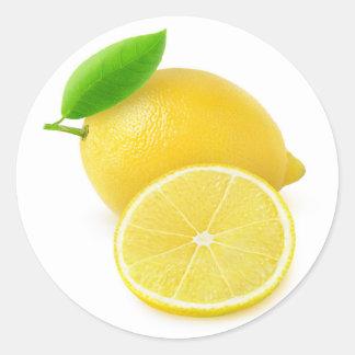 Frische Zitrone Runder Aufkleber