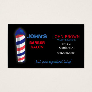 Friseur businesscard mit Rückseite der Visitenkarte