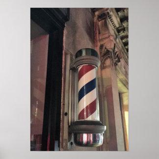 Friseur-Geschäfts-Pole-Foto Poster