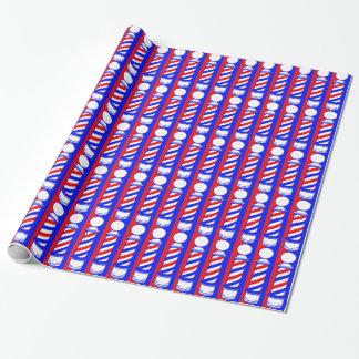 Friseur Polen und Streifen Geschenkpapier