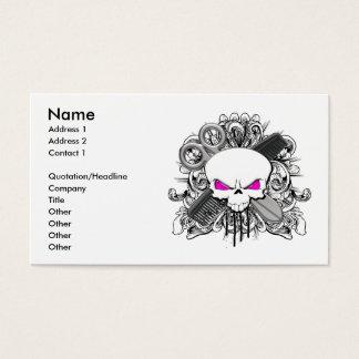 Friseur-Schädel-Visitenkarte Visitenkarten
