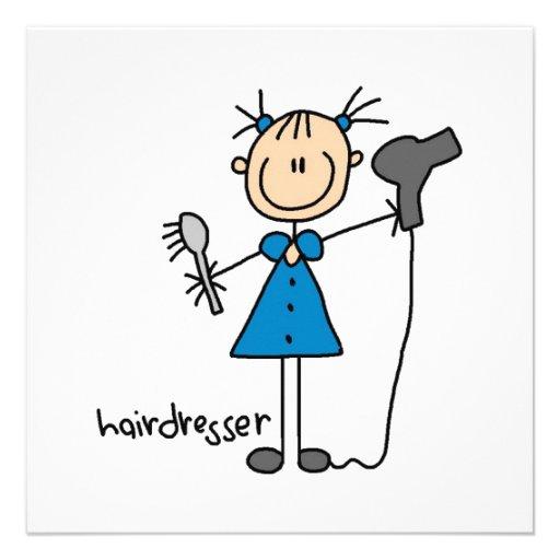 Friseur-Strichmännchen Personalisierte Ankündigung