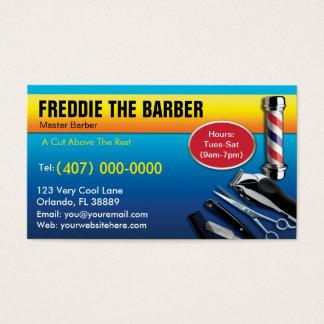 Friseur-Visitenkarte (Friseursalonpfosten - Visitenkarten