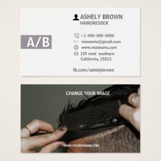 Friseur-Visitenkarten, Hairstylist, Make-up Visitenkarten