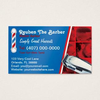 Friseursalon-Friseur (Friseurpfosten und -scherer) Visitenkarten