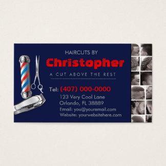 Friseursalon-Geschäft Karte-Friseur Pfosten, Visitenkarten