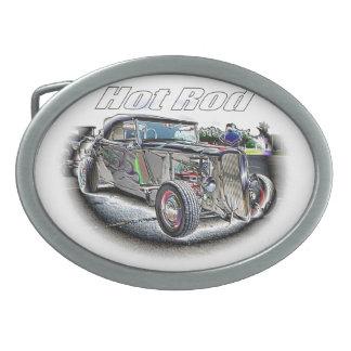 Frisiertes Auto Ovale Gürtelschnallen