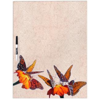 Fritillary-Schmetterlings-Sonnenblume-Blumen-Brett Memoboard