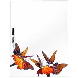 Fritillary-Schmetterlings-Sonnenblume-Blumen-Brett Trockenlöschtafel