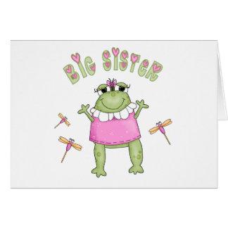 Froggie große Schwester Karte