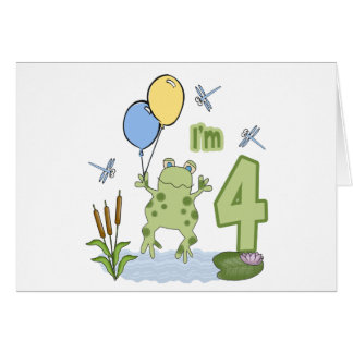 Froggy-4. Geburtstags-Einladungen Karte