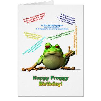 Froggyfreund-Geburtstagskarte mit Froggywitzen Grußkarten