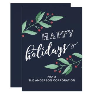 Frohe Feiertage einfacher Geschäfts-Feiertags-Gruß Karte