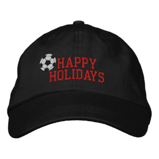 Frohe Feiertage Fußball gestickter Hut Bestickte Kappe