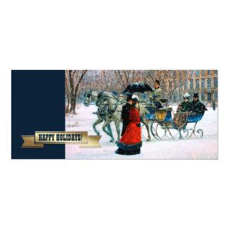 Frohe Feiertage. Kundengerechte Weihnachtskarten 10,2 X 23,5 Cm Einladungskarte