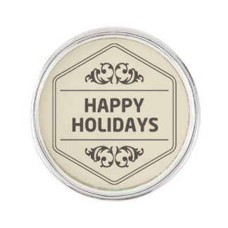 Frohe Feiertage kundenspezifischer Hintergrund Anstecknadel