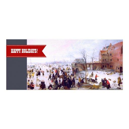 Frohe Feiertage. Kunst-Weihnachtsgruß-Karten Ankündigungskarte