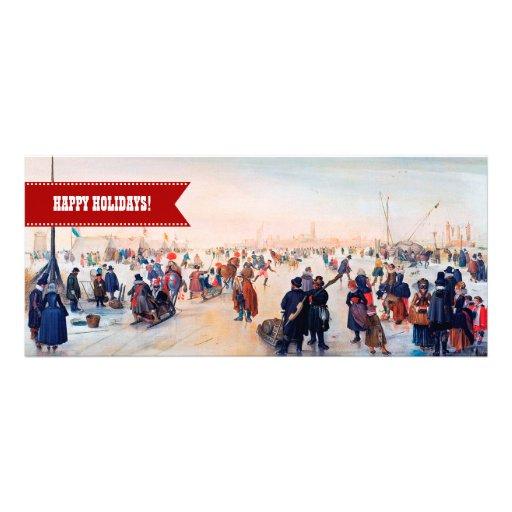 Frohe Feiertage. Kunst-Weihnachtsgruß-Karten Ankündigungskarten