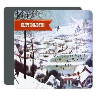 Frohe Feiertage. Kunst-Weihnachtsgruß-Karten Karte