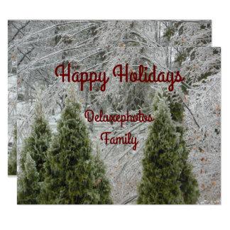 Frohe Feiertage ruhige eisige Niederlassungen 10,8 X 14 Cm Einladungskarte