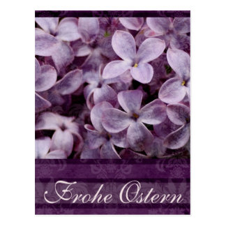 Frohe Ostern Fliedern Postkarte