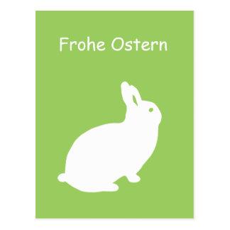 Frohe Ostern, postcard bunny, Postkarte