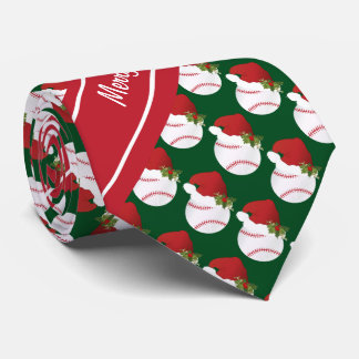 Frohe Weihnacht-Baseball Krawatten