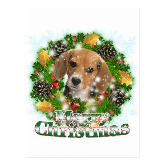 Frohe Weihnacht-Beagle Postkarte