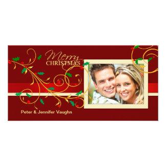Frohe Weihnacht-extravagante Feiertags-Foto-Karten Photokartenvorlagen