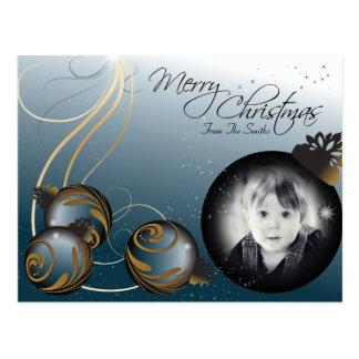 Frohe Weihnacht-Familien-Foto verziert Postkarte