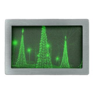 Frohe Weihnacht-Feiertags-Baum verziert celebratio Rechteckige Gürtelschnalle