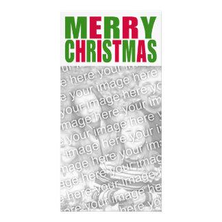 Frohe Weihnacht-Foto-Karte Fotokarten