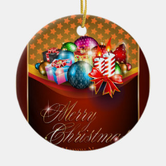 Frohe Weihnacht-Gruß-Karte Keramik Ornament