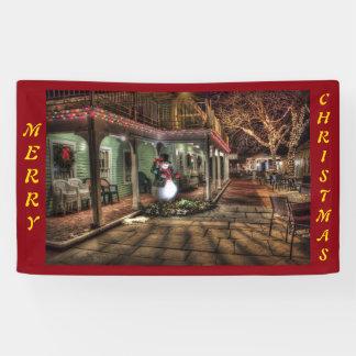 Frohe Weihnacht-Haus Banner