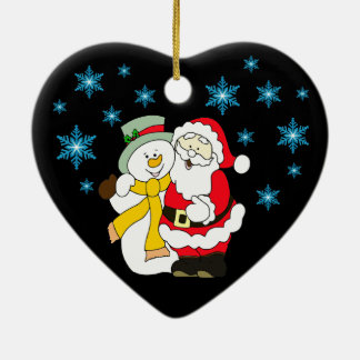Frohe Weihnacht-Herz-Verzierung Keramik Ornament