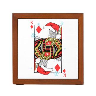 Frohe Weihnacht-König der Diamanten - addieren Sie Stifthalter