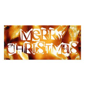 Frohe Weihnacht-Kupfer-Goldglänzender Stern Werbekarte