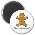 Frohe Weihnacht-Lebkuchen-Mann Kühlschrankmagnet