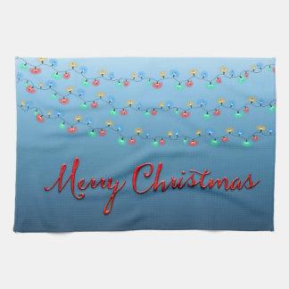 Frohe Weihnacht-Licht-Schnur Handtuch
