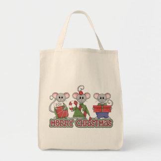 Frohe Weihnacht-Mäuse Tragetasche
