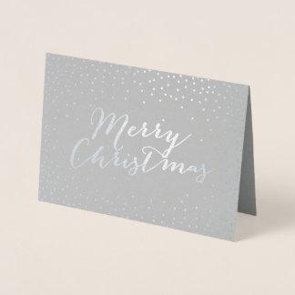Frohe Weihnacht-moderne silberne Folienkarte