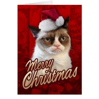 Frohe Weihnacht-mürrische Katze Karte