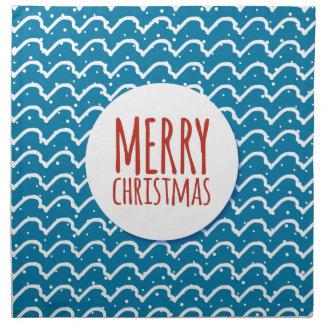 Frohe Weihnacht-nahtlose Stoffserviette
