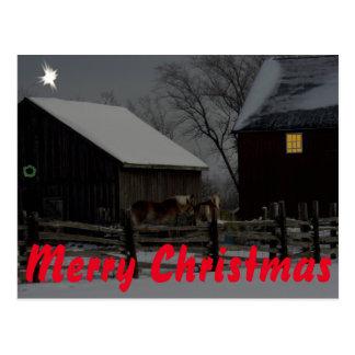 Frohe Weihnacht-Postkarte Postkarte
